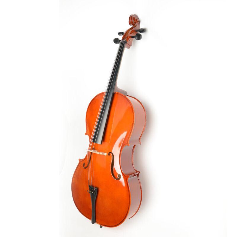 New 4/4 Full Size Student Wood Cello + Bag + Bow + Rosin Retro Style UK