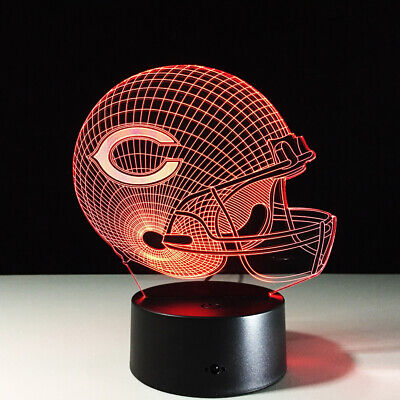 Chicago Bears LED Light Lamp Collectible NFL Home Decor Gift Jay Cutler - Chicago Decorations
