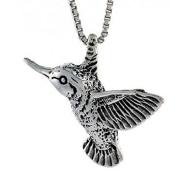 Sterling Silver Hummingbird Pendant / Charm, 18