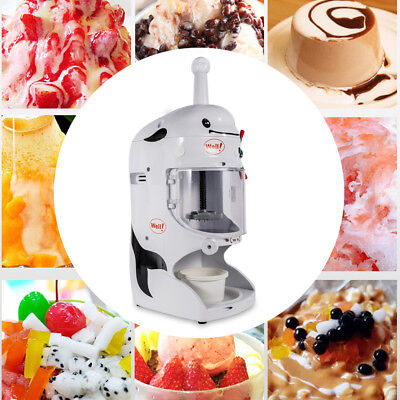 350w Commercial Electric Maker Shaved Ice Crusher Shaver Snow Cone Machine 110v