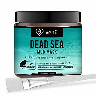 Organic Dead Sea Mud Mask, Face and Body, Pore Reducer, Acne Clearer, by Venu