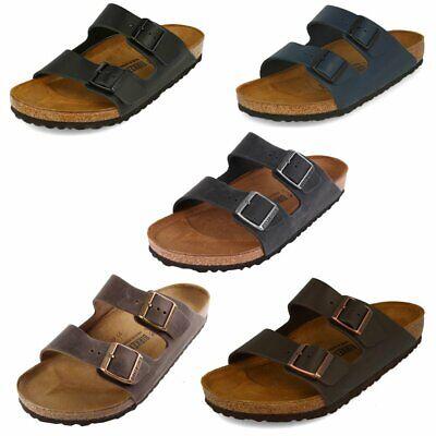 Birkenstock Arizona Schuhe Sandalen Pantoletten Leder Klassische Farben