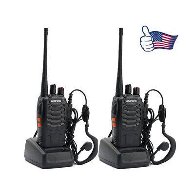 2x BAOFENG BF-888S UHF 400-470MHz 5W 16CH Long Range Two Way Radio Walkie Talkie for sale  Shipping to Nigeria