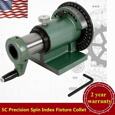 5c Precision Spin Index Fixture Collet For Milling Collet Capacity 1-18 Usa