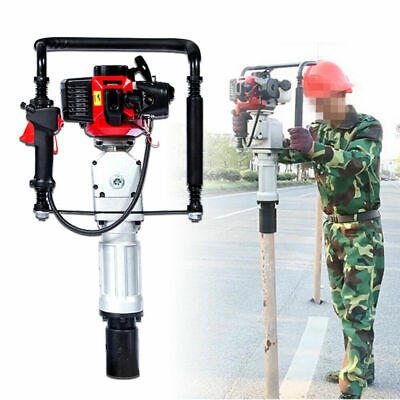 2-stroke Pile Driver Push Gasoline Engine T-post Driving Head 52cc Air Cooling