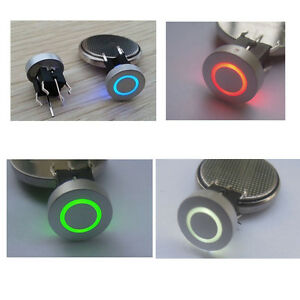 Blue-Red-Green-Yellow-10mm-Cap-CIRCLE-12V-50mA-Momentary-Tact-Push-Button-Switch
