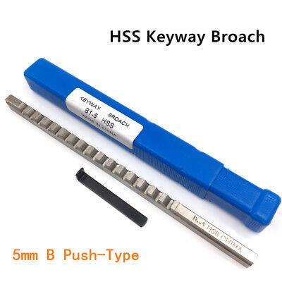 5mm B1 Push-type Keyway Broach Metric With Shim Cutting Tool For Cnc Machine