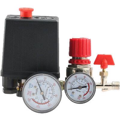 Air Compressor Pressure Control Switch Manifold Relief Regulator Gauge 120psi
