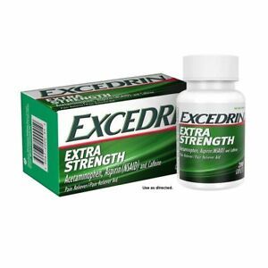 Excedrin Extra Strength Pain Reliever, 200 Caplets, Exp. 2020+