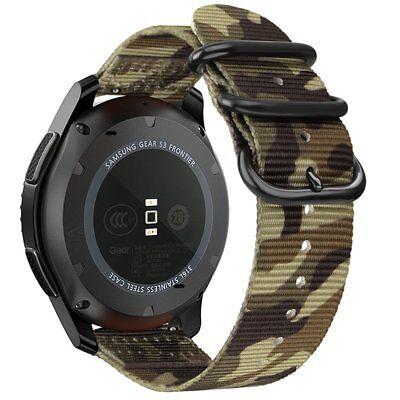 Woven Nylon Band FOR Samsung Gear S3 Classic Frontier/Galaxy Watch Camo Green Samsung Galaxy S3 Camo