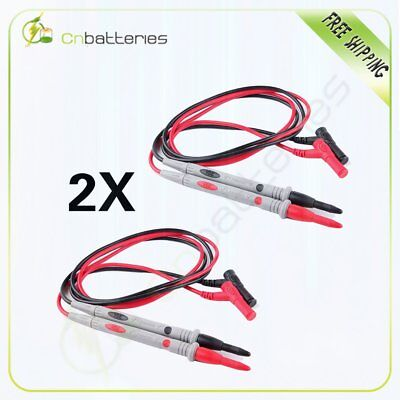 2 Silicone Probes Test Lead Cable For Fluke Multimeter Tl71 Digital Multi Meter