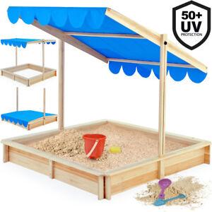 Wooden Sand Pit Nature Sandbox Wood Sand Box Child Kids Garden Play Outdoor