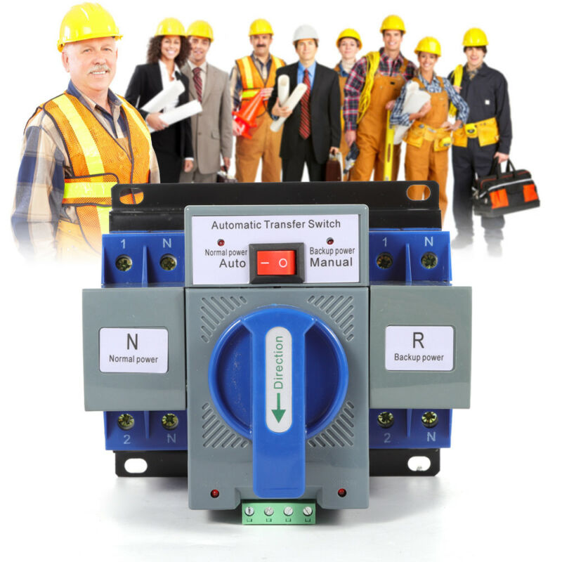 2P 63A Mini Dual Power Automatic Transfer Switch 50/60HZ CB Level Self Cast Mode