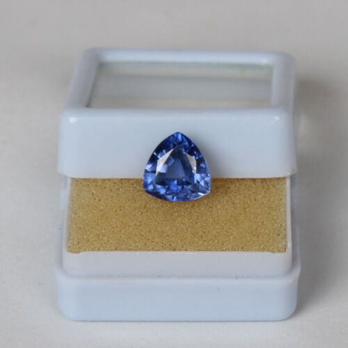 Natural Sapphire Ceylon Cornflower 3.40 Ct Trillion Loose Gemstone Certified