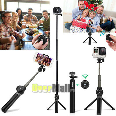 Selfie Stick Tripod Monopod Bluetooth Remote for iPhone 7 8 Plus X Samsung S8 S9