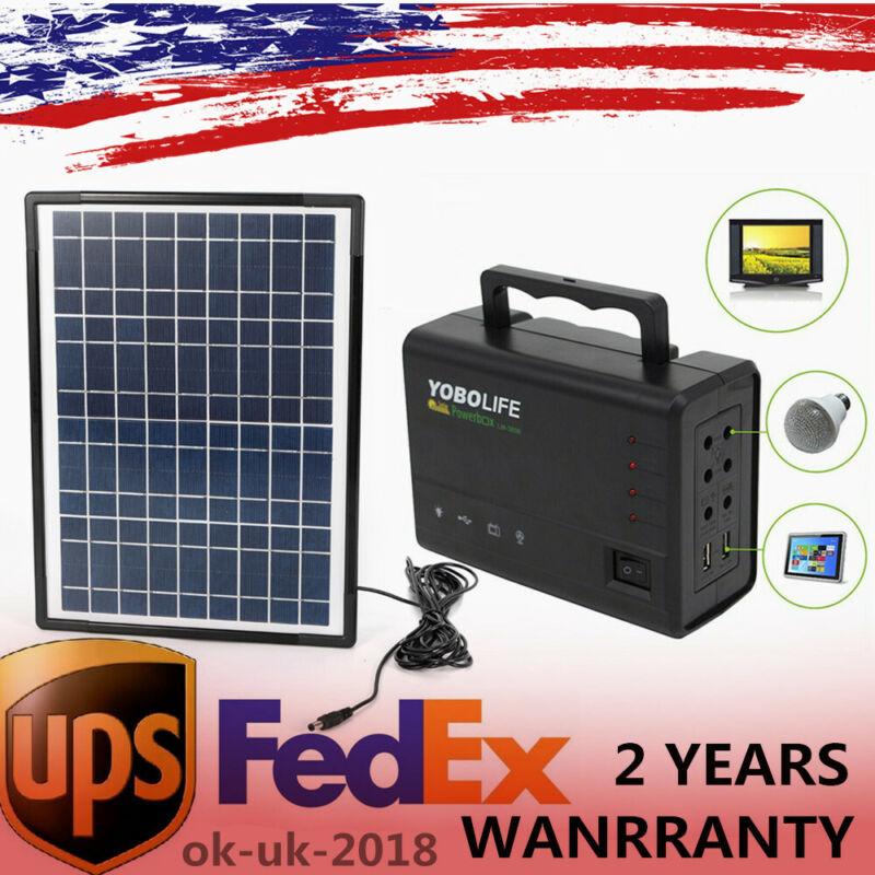 Rechargeable Portable Solar Generator Kit Power Inverter for Camping Solar Panel