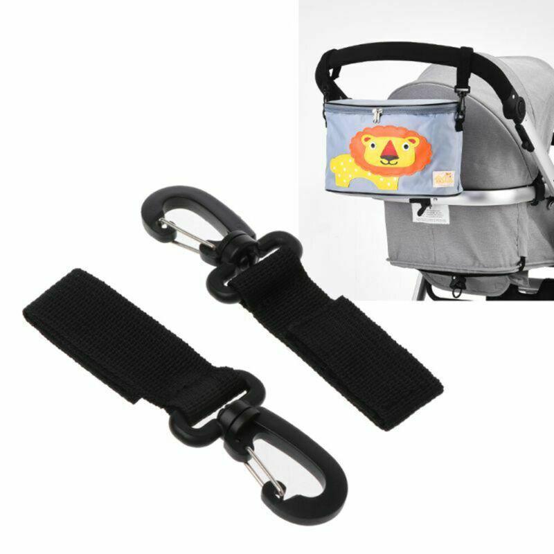 2pcs Baby Wheelchair Pram Carriage Bag Hanger Hook Clip Stroller Accessories US
