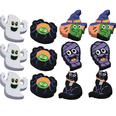 Halloween Erasers Party Bag Fillers Favors Trick or Treat KIds For 12
