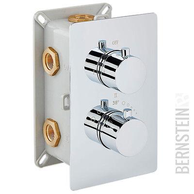 Edle Thermostat-Unterputz-Duscharmatur UP12-01 mit 3 Wege-Umsteller