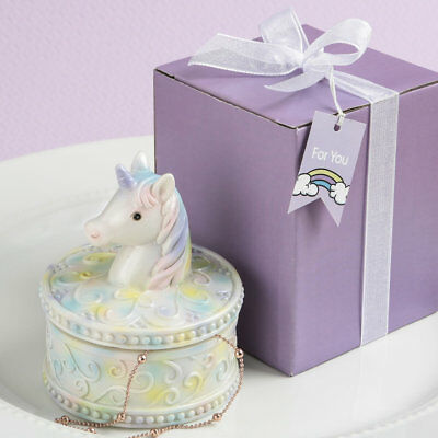 10 UNICORN DESIGN TRINKET BOX BABY SHOWER SWEET 16 FAVOR BIRTHDAY PARTY FAVORS