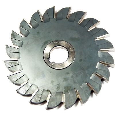 Interstate Side Milling Cutter 6 X 516 X 1 Arbor Hss 20t 03016201