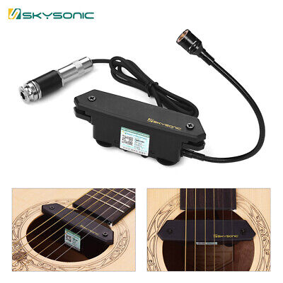 SKYSONIC T-902 Acoustic Guitar Active Soundhole Pickup Magnetic+Mic Dual Pickup