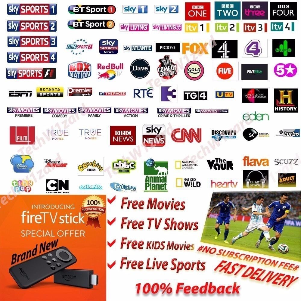 LIVE SPORT / MOVIES / BOX SETS & MORE - Fire Stick | in