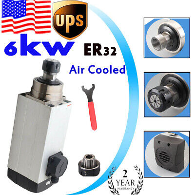 6000w Er32 Air Cooled Spindle Motor For Cnc Router Engraving Machine 220v