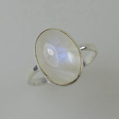 Zarter Silber Ring Mondsteinring Mondstein glänzend 925  Gr. 54