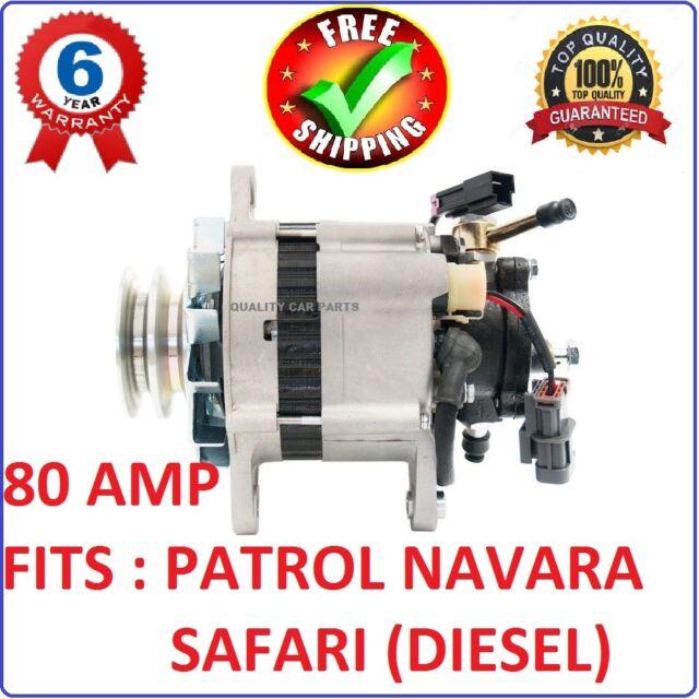 Alternator with Pump for Nissan GQ Patrol engine TD42 4.2L diesel 1988-1997