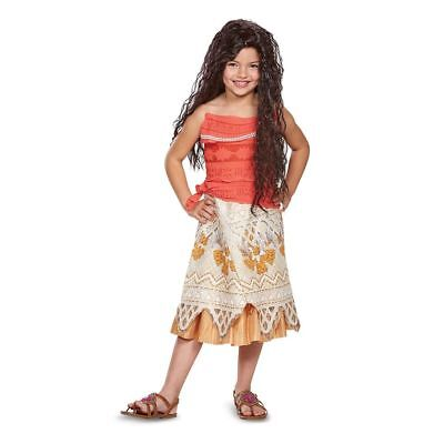 Disney Classic Moana Princess Costume Fancy Dress Hawaiian Luau Girls Te Fiti](Hawaiian Disney Princess)