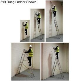 Brand New Zarges Skymaster Combination Ladder 3x12 Rung