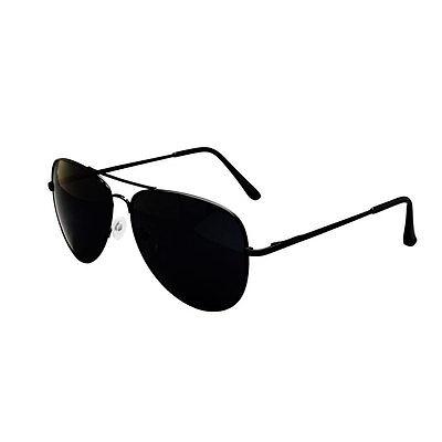 Black Aviator Polarised Sunglasses, Cloth Case UV400 Designer Mens Ladies Shades