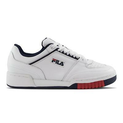 - FILA TARGA ITALY 1TM000001-125 WHITE/NAVY BLUE/RED - ITALIAN LEATHER & DESIGN