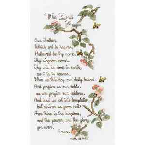 Janlynn THE LORD'S PRAYER Counted Cross Stitch Kit CHRISTIAN Matthew 6:9-13