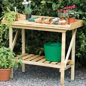 Wooden Potting Bench Table Garden Staging Bench 15yr Grntee Ebay