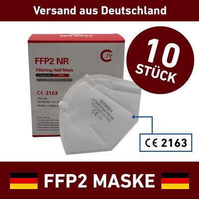10x FFP2 Atemschutzmaske Mundschutz Maske Luyao Mund Nasen Gesichtsmaske CE✅