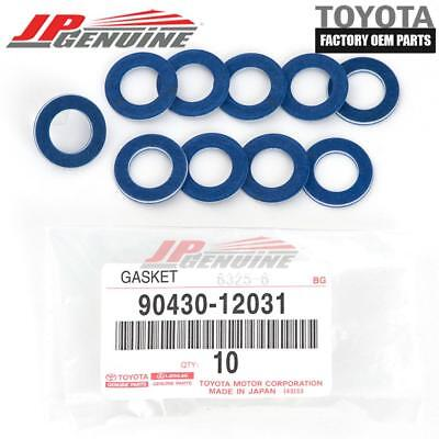 GENUINE TOYOTA LEXUS OEM OIL DRAIN PLUG WASHER GASKET 90430-12031 (SET OF 10)