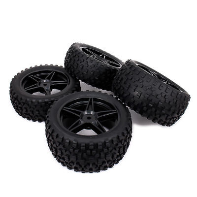 4pcs RC 1:10 Off-Road Buggy Front Rear Rubber Wheel Rim Tire 66005 66026 For Hsp