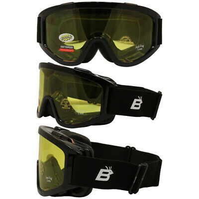 Burning Man Special - Motorcycle Goggles Fit Over Glasses Anti Fog Yellow (Burning Man Glasses)