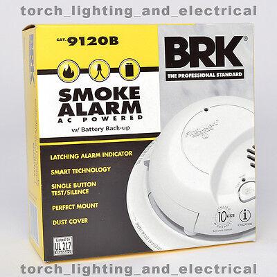 6-PACK BRK 9120B First Alert Smoke Alarm Detector Battery Backup 120V HARDWIRED