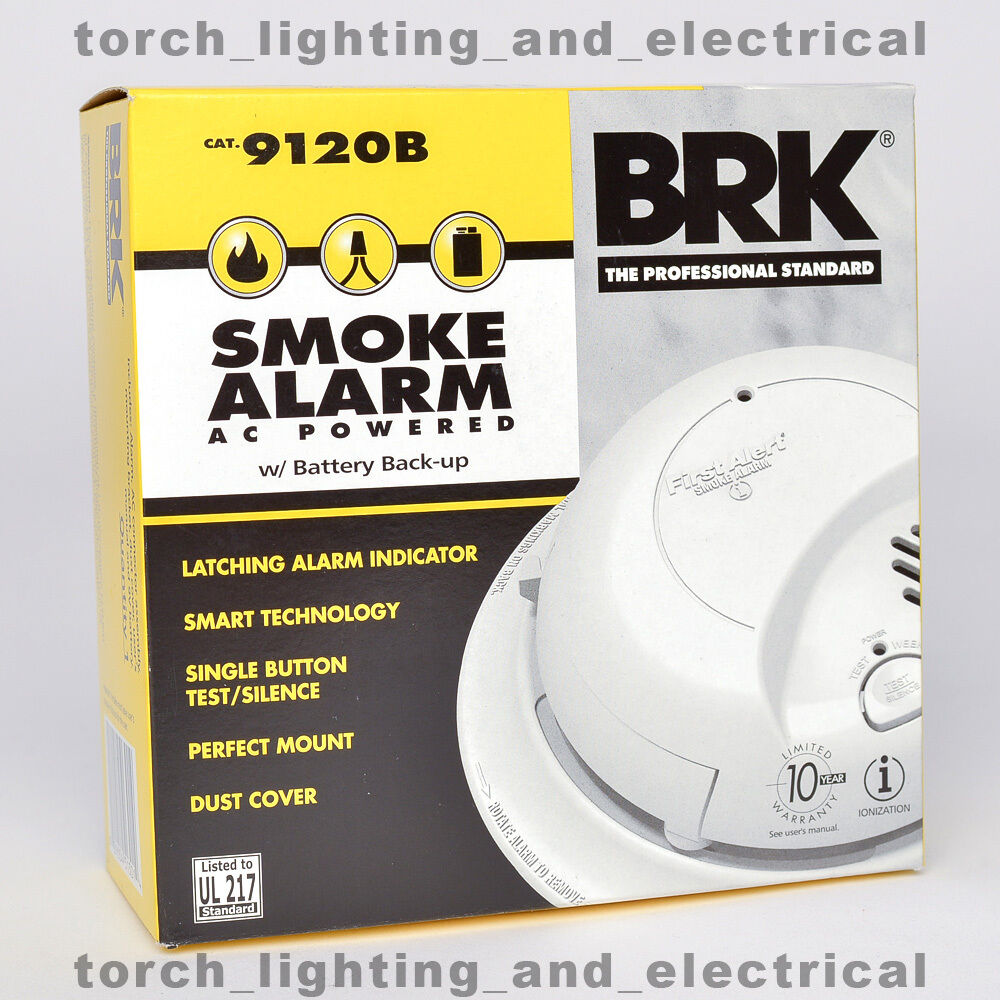 *2019* 6-PACK* BRK 9120B* First Alert Smoke Alarm Detector* BATTERY & HARDWIRED