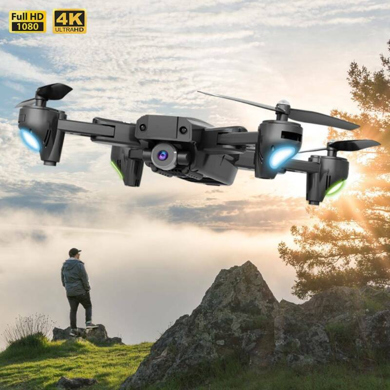 Drone X Pro Quadcopter 1080P 4K Foldable RC with HD Camera Night Lights WIFI