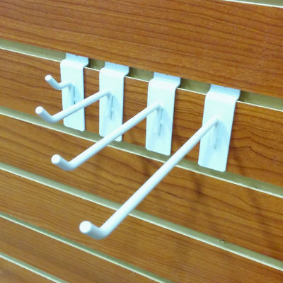 White Slatwall Metal Hooks Multiple Sizes Available - 40 Pieces