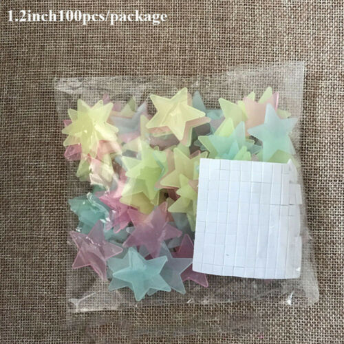100 Pcs Glow in the dark Pebbles Stones Fish Tank Garden Aquarium Walkway Decor