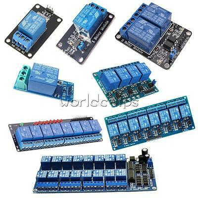5v 12468 Channel Relay Led Module Board Optocoupler For Arduino Pic Arm Avr