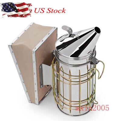 Us Honey Keeper Bee Smoker Stainless Steel Silver