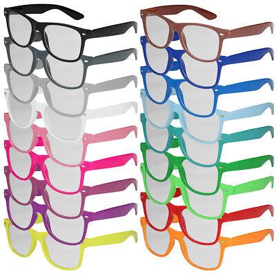 Nerd Brille Nerdbrille ohne Stärke Vintage Modebrille Mode Herren Damen schwarz