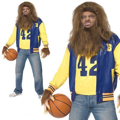 Teen Werewolf Costume (Teen Wolf Mens 80s Costume Licensed Fancy Dress Adults)