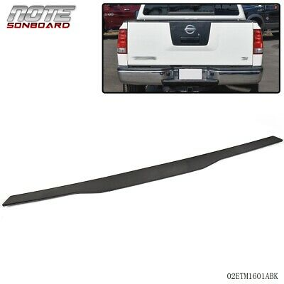 For Nissan Titan Pickup 2004-2012 Tailgate Molding Cap ABS Spoiler Cover Black Nissan Titan Tailgate
